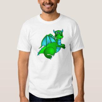 Twilight Flight - Cute Green & Blue Dragon T Shirt