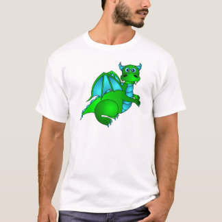 Twilight Flight - Cute Green & Blue Dragon T-Shirt