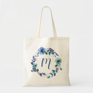 Twilight Floral Wreath Personalized Bag