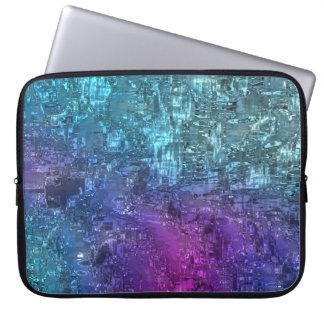 Twilight Geometric Abstract Art Laptop Case
