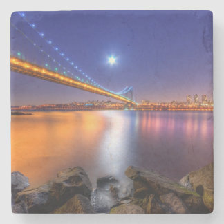 Twilight, George Washington BridgePalisades, NJ. Stone Coaster