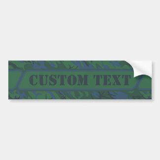Twilight Green Camouflage Bumper Sticker