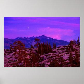 Twilight - Grouse Ridge - Sierra Nevadas Poster