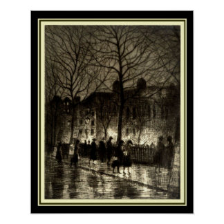 """""""Twilight in Leicester Square"""" 16 x 20 Print"""