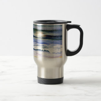 Twilight Ocean Waves Beach Surf Decor Art Travel Mug