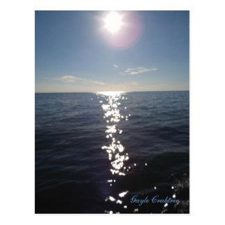 Twilight on Mobile Bay, Alabama postcard