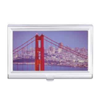 Twilight Over The Golden Gate Bridge Business Card Cases