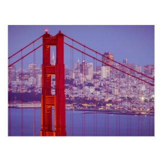 Twilight Over The Golden Gate Bridge Postcard