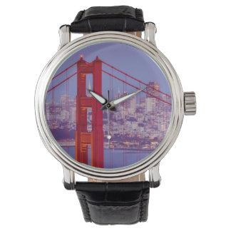 Twilight Over The Golden Gate Bridge Wristwatch