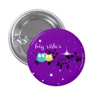 "twilight owl ""big sister"" button!!! 3 cm round badge"
