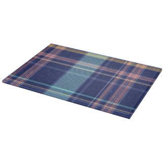 Twilight Plaid Cutting Board