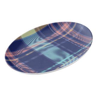 Twilight Plaid Porcelain Serving Platter