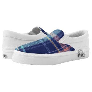 Twilight Plaid Slip On Shoes