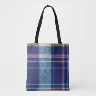 Twilight Plaid Tote Bag