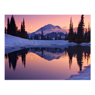 Twilight, Tarn and Crescent Moon Postcard
