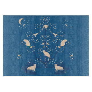 Twilight Tomcats Glass Cutting Board