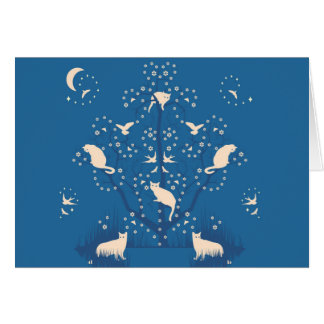 Twilight Tomcats Greeting Card