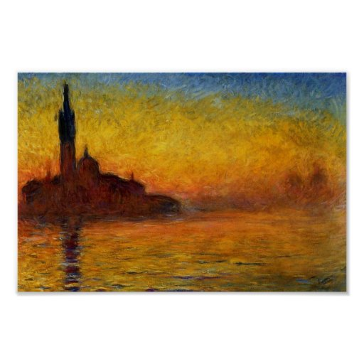Twilight, Venice by Claude Monet Posters