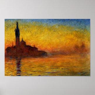 Twilight Venice by Claude Monet Posters