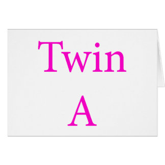 Twin A Pink Card
