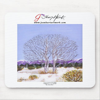 Twin Aspens Mouse Pad