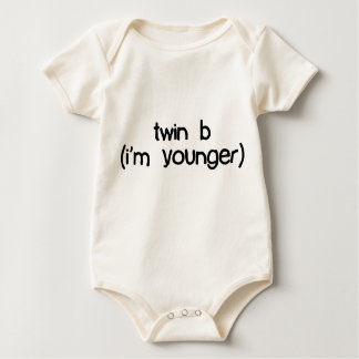 twin b (i'm younger) baby bodysuit