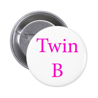 Twin B Pink 6 Cm Round Badge