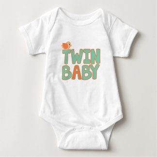 "Twin Baby ""A"" Baby Jersey Bodysuit"