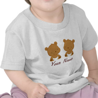 Twin Baby Bear Personalized Gift Tshirts