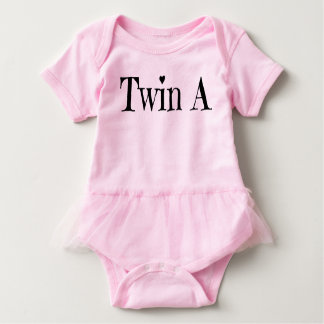 Twin baby clothes twin baby clothing infant apparel zazzle twin baby clothes twin a outfit baby bodysuit negle Choice Image