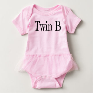 Twin Baby Clothes - Twin B Outfit/ Onepiece Baby Bodysuit