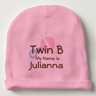 Twin Baby Girl Beanie Hat with Rattle Baby Beanie