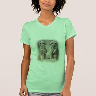Twin baby Meerkats T Shirt