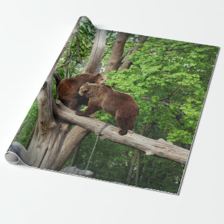 Twin bears wrapping paper
