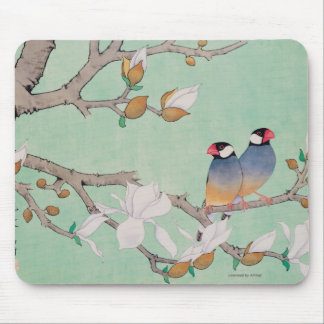 Twin Birds in the Branches Mouse Pad