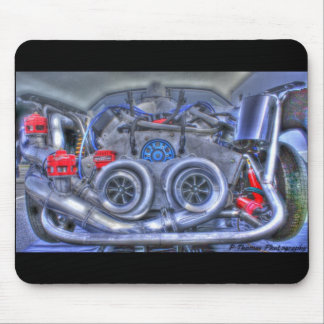 Twin Blowers Race Car Mouse Pad