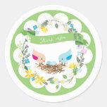 Twin Blue Eggs | Baby Shower Favor Sticker