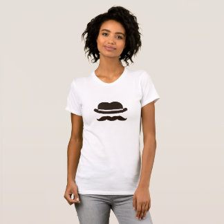 Twin bowler moustache T-Shirt