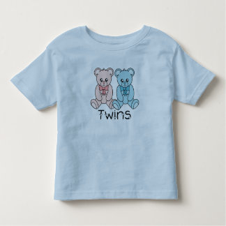 Twin Boy and Girl Bears Toddler T-Shirt