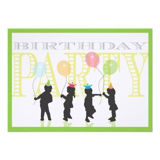Twin Boy and Girl Birthday Invitation