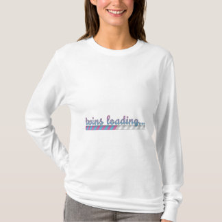 Twin Boy and Girl Loading Pregnancy Shirt