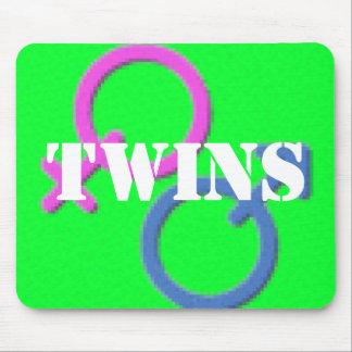 twin boy girl Gender Symbols mousepad