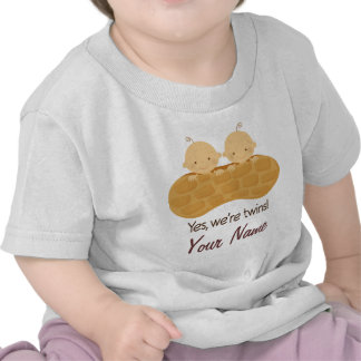 Twin Boy Personalized Babies In A Peanut Tees