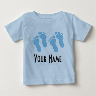 Twin Boy Personalized Baby Footprints Shirt