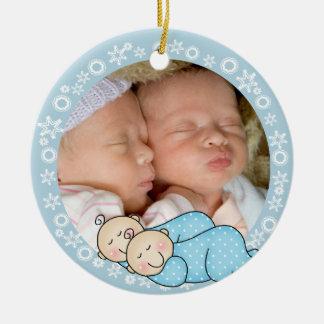 Twin Boys 1st Christmas Ornament