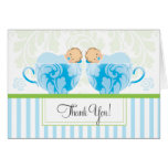 Twin Boys Baby Shower Thank You Card
