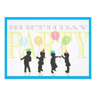 Twin Boys Birthday Invitation