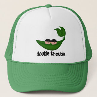 Twin Boys  Double Trouble Peapod Trucker Hat