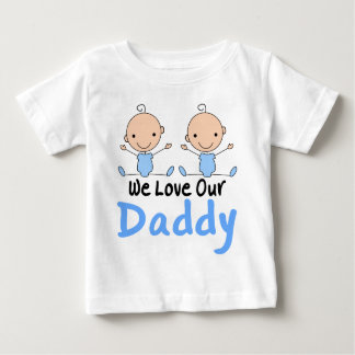 Twin Boys Love Daddy Infant Tee