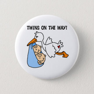 Twin Boys on the Way 6 Cm Round Badge